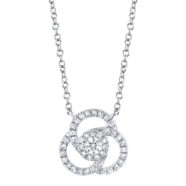 0.20CT DIAMOND LOVE KNOT NECKLACE