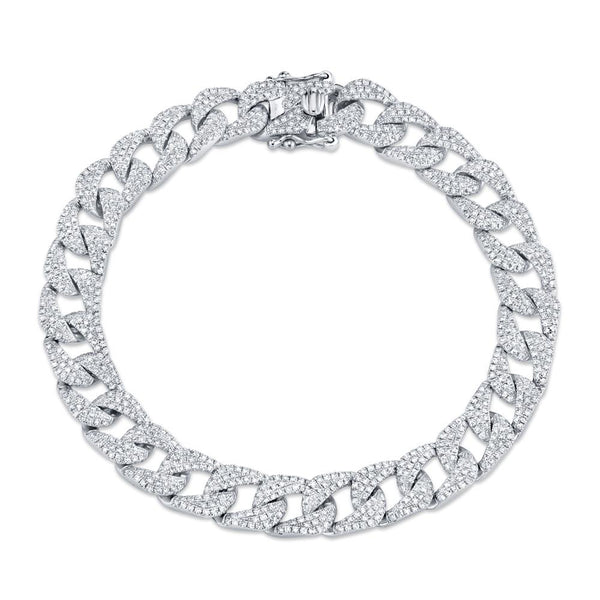 3.19CT DIAMOND PAVE CHAIN BRACELET