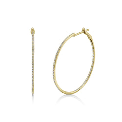 0.50CT DIAMOND HOOP EARRING