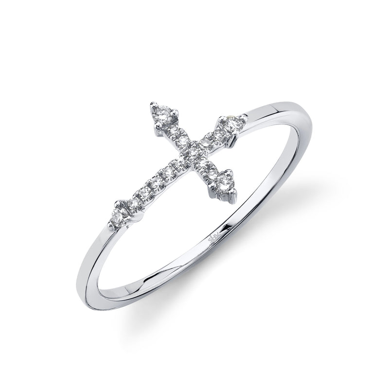 0.09CT DIAMOND CROSS RING
