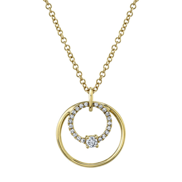 0.11CT DIAMOND CIRCLE NECKLACE