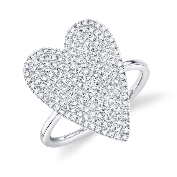 Amor 0.56 Ct Diamond Pave Heart Ring - Large