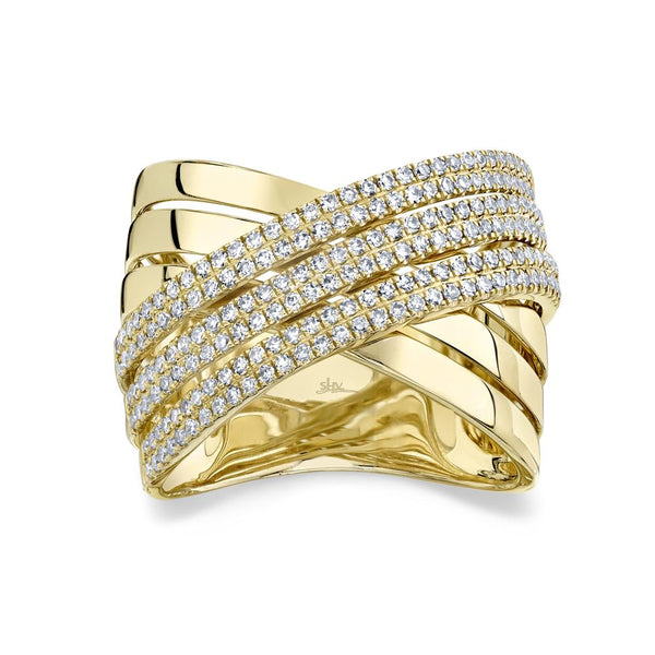 0.54CT DIAMOND BRIDGE RING