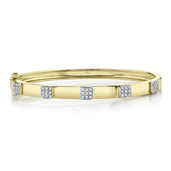 0.43CT DIAMOND PAVE BANGLE
