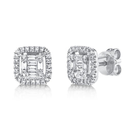 0.43CT DIAMOND BAGUETTE STUD EARRING