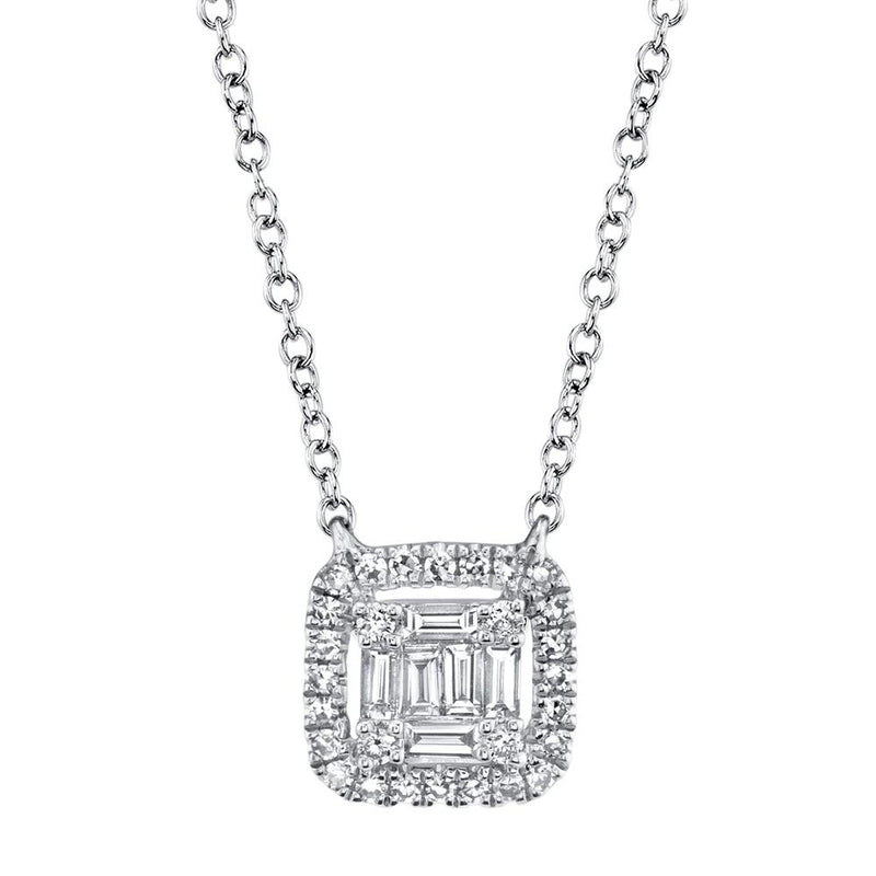 0.22CT DIAMOND BAGUETTE NECKLACE