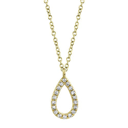 0.06CT DIAMOND PEAR NECKLACE