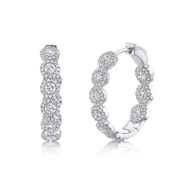 2.33CT DIAMOND OVAL HOOP EARRING