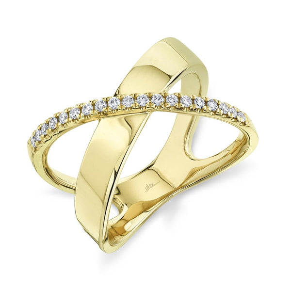 0.19CT DIAMOND BRIDGE RING