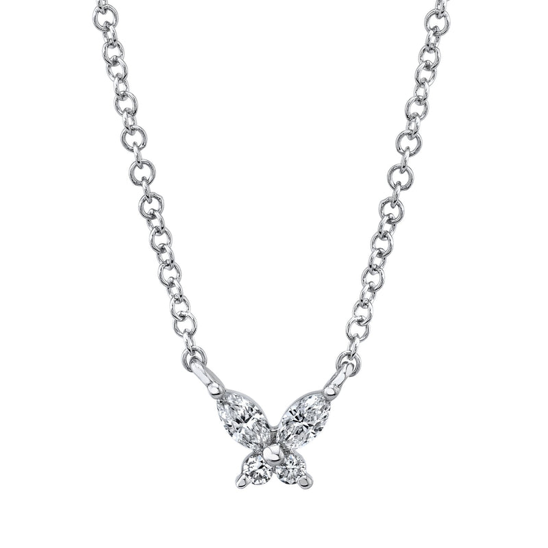 0.10CT DIAMOND BUTTERFLY NECKLACE