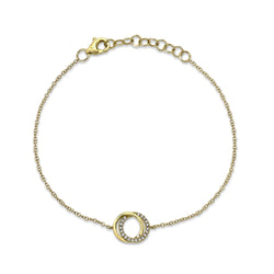 0.07CT DIAMOND LOVE KNOT CIRCLE BRACELET