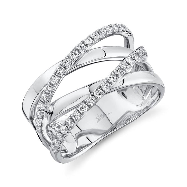 0.41CT DIAMOND BRIDGE RING