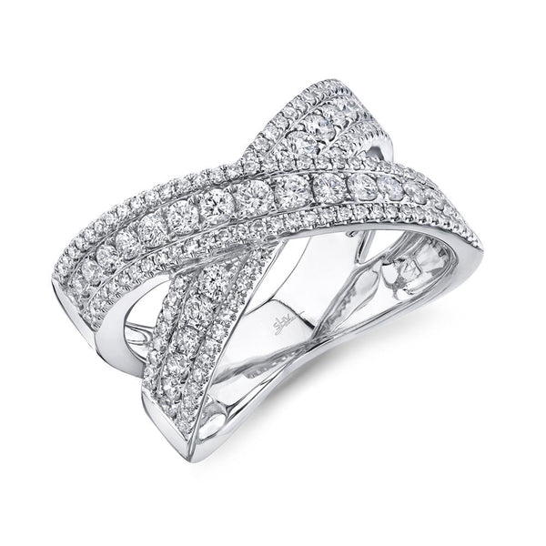 0.95CT DIAMOND BRIDGE RING