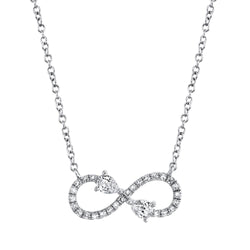 0.22CT DIAMOND INFINITY NECKLACE