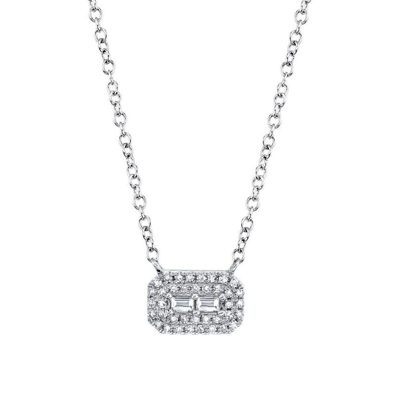 0.14CT DIAMOND BAGUETTE NECKLACE