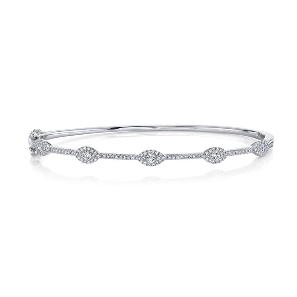 0.60CT DIAMOND EYE BANGLE