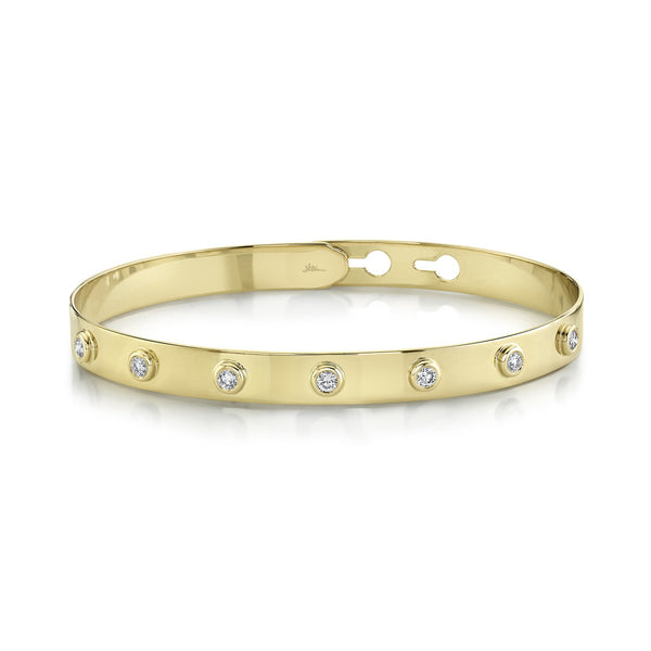 0.32CT DIAMOND BEZEL LATCH LOCK BANGLE
