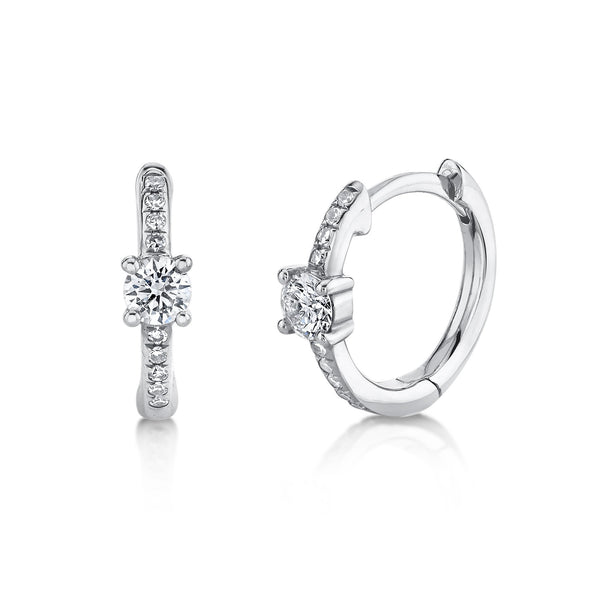 0.25CT DIAMOND HUGGIE EARRING