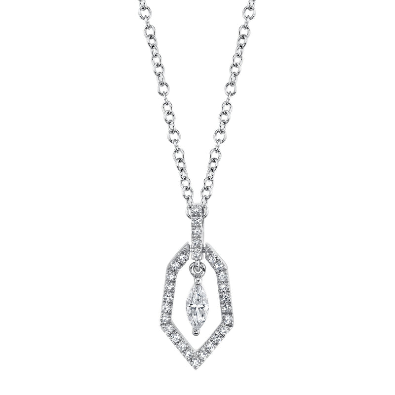 0.17CT DIAMOND MARQUISE NECKLACE