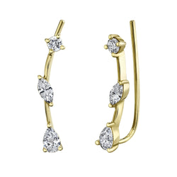 0.41CT DIAMOND EAR CRAWLER EARRING