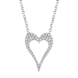 0.14CT DIAMOND OPEN HEART NECKLACE