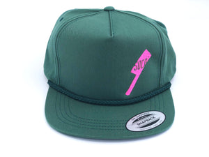 SOCO Golf Style Hat - Green + Pink