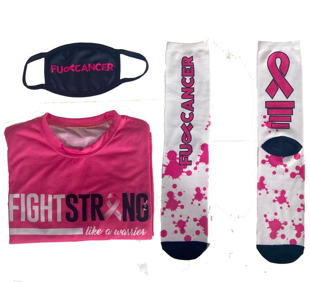 FU Cancer Face Mask Tshirt and Socks