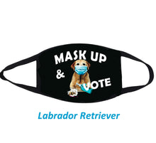 Load image into Gallery viewer, Mask Up and Vote Dog Cloth Face Mask