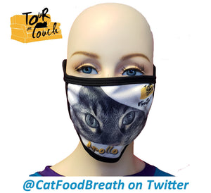 Cat Tour de Couch Cloth Face Mask