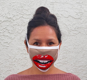 Big Lips Cloth Face Mask