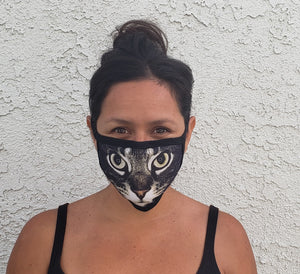 black cat cloth face mask