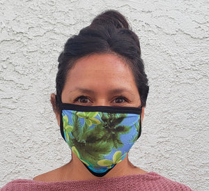 Hawaiian Print Cloth Face Mask