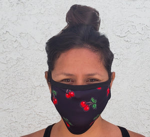 Cherry Print Cloth Face Mask