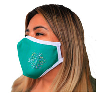 Load image into Gallery viewer, Bling Holiday Face Mask 3 Layer Fitted