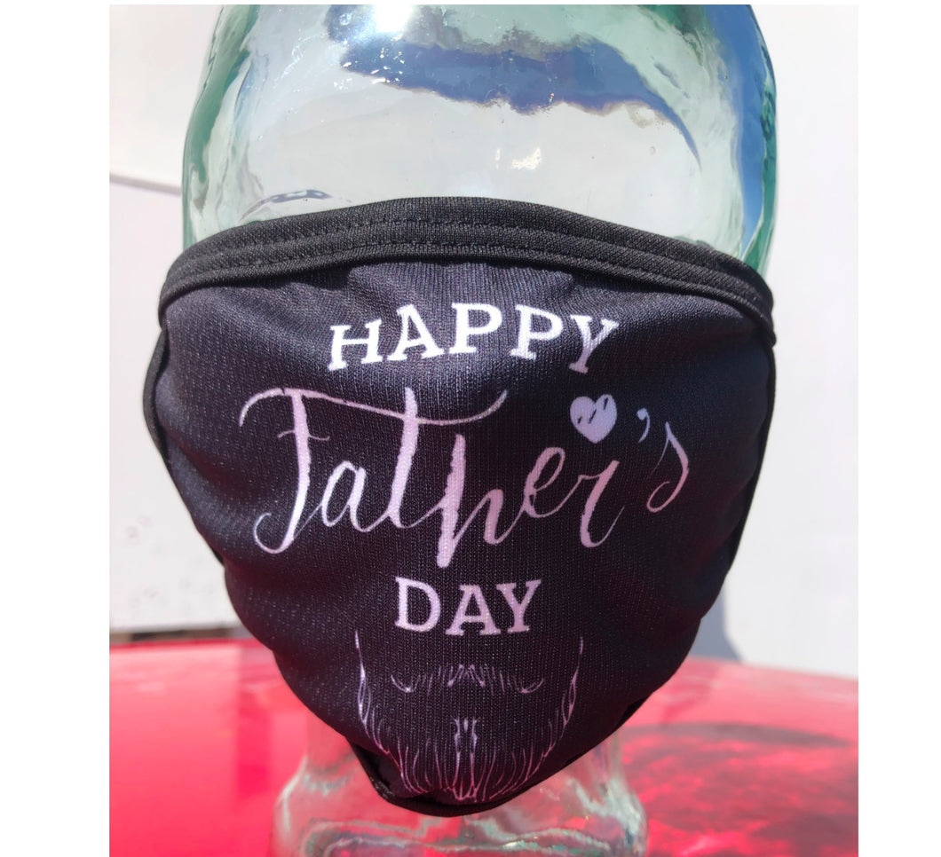 Happy Father's Day Cloth Face Mask with Goatee
