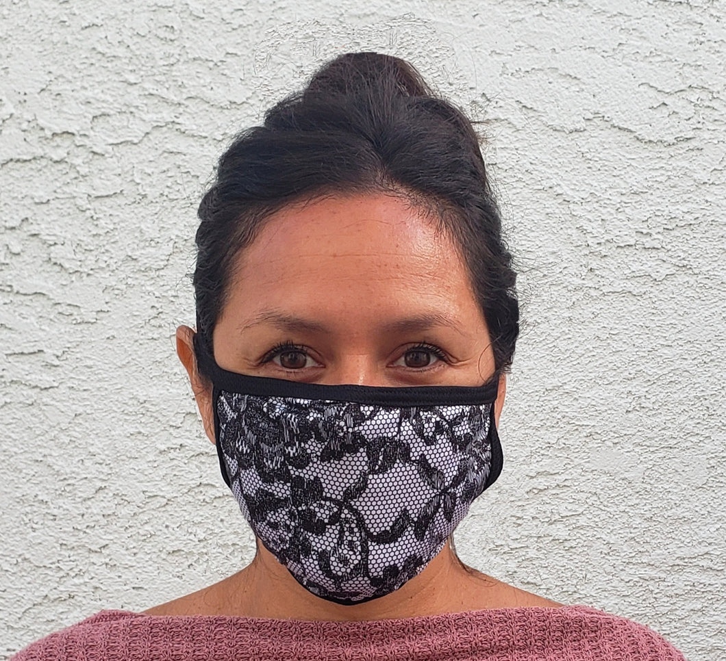 Lace Print Cloth Face Mask