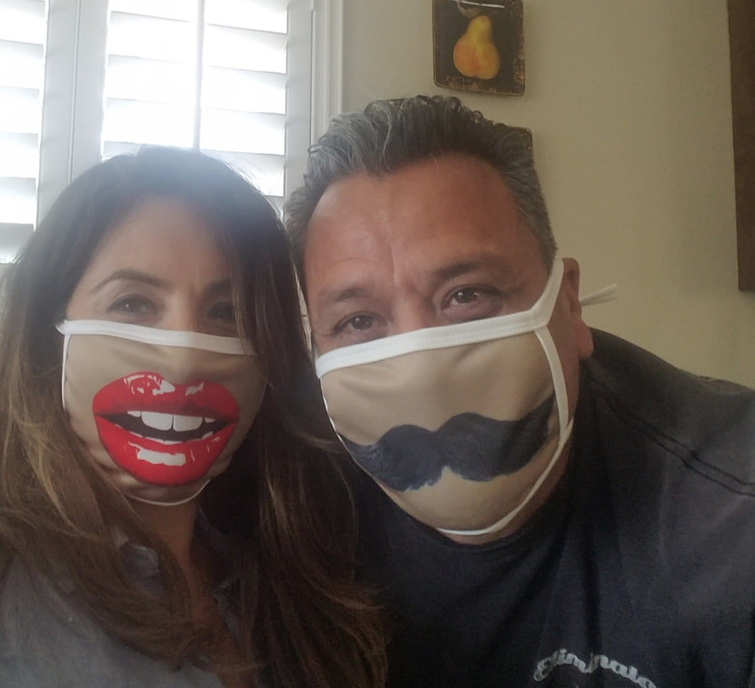 Moustache Cloth Face Mask