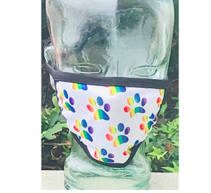 Paw Print Gay Pride Cloth Face Mask
