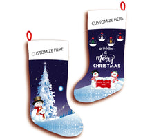 Load image into Gallery viewer, Personalized Christmas Stocking Snowmen
