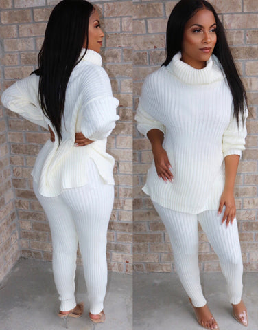 Cozy Knit Set Ivory