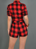 Sale* Flawless Flannel Romper - Sugar Popped  - 2