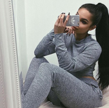Fitted Glam Sweatsuit Grey - Sugar Popped  - 4
