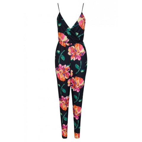 Cami Floral Jumpsuit Black - Sugar Popped  - 1