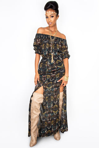 Gypsy Goddess Maxi - Sugar Popped