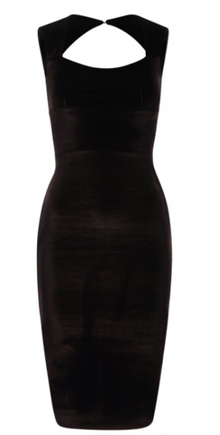 Gianna Velvet Bodycon Black - Sugar Popped  - 1