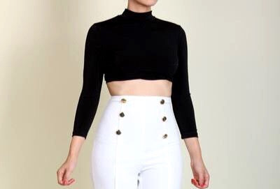 Black Crop Top - Sugar Popped