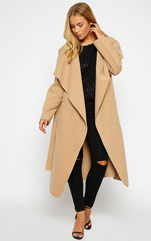 FallAway Trench Coat Camel - Sugar Popped  - 1