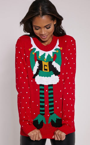 Santa's Helper Sweater Red - Sugar Popped  - 1