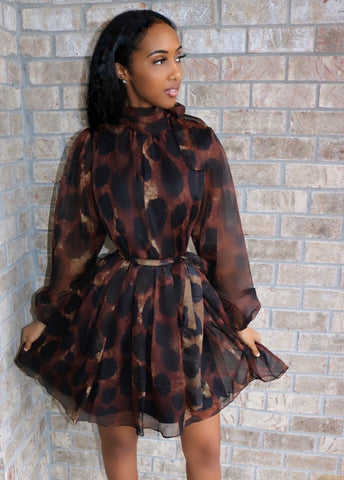 Leopard Bow Dress