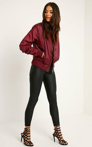 Bombshell Bomber Jacket Berry Wine - Sugar Popped  - 1